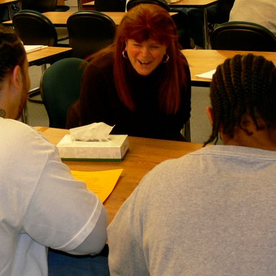 Deborah Appleman Laughing With Students